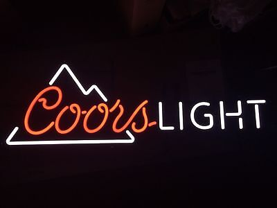 "Coors Light Beer Sign Led Lighted Bar Mancave Pub 38"" X 13"" New In Box"