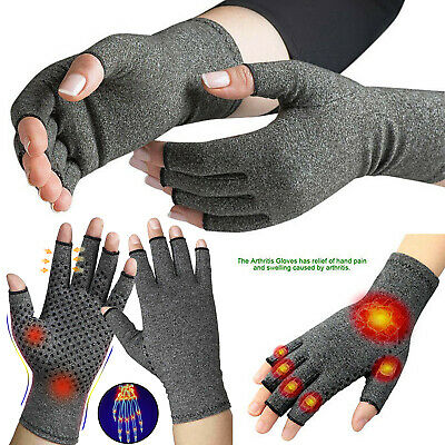 Copper Compression Gloves Hand Fingers Arthritis Joint Pain Carpal Tunnel Brace