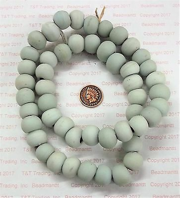 XL Dutch Off White Dogon Trade Beads { 50 }  antique style  # 1650     Bin B
