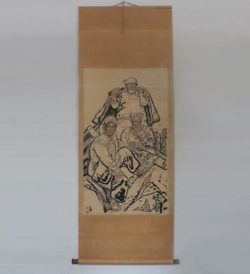 Liu Wenxi Signed Old Chinese Hand Painted Farmer Calligraphy Scroll