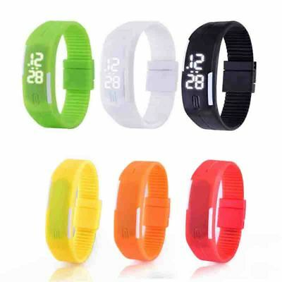 7 Color LED Luminous Waterproof Bracelet Wristwatch Silicone Sports Fashion