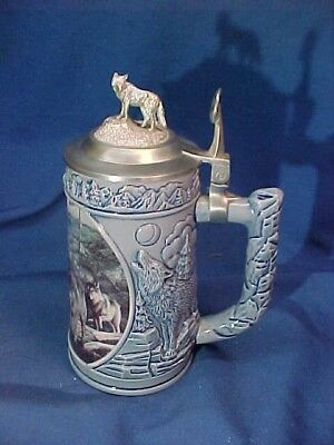 Limited Edit CRY of THE WOLFPACK  Beer STEIN by LONGTON CROWN SCOUTING The BLUFF