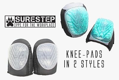 2 x Strap-On Gel Safety Knee-Pad Protectors Work PPE |2 styles|