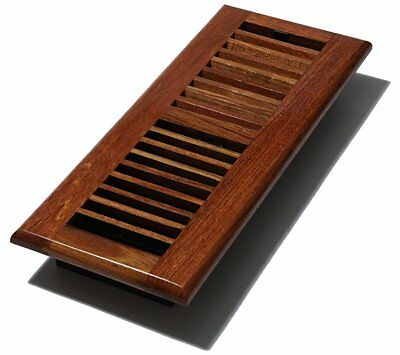 Decor Grates WLC412-N 4 in. x 12 ft. Louvered Floor Register, Natural Cherry