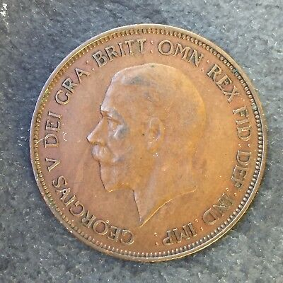 UK 1d Penny 1936, George V - XF, Last Year, The Year of Three Kings