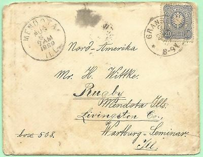 7/23/1889 Gransee Germany Wittke Wartburg Seminary Rugby Mendota Ill fossil leaf