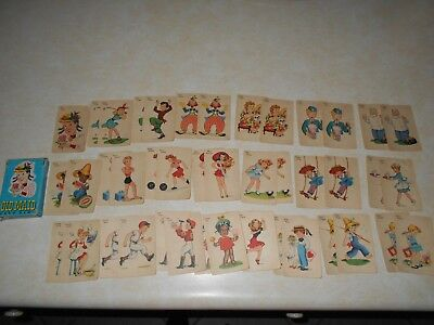 Vintage Whitman  Old Maid Cards All There Some Tears