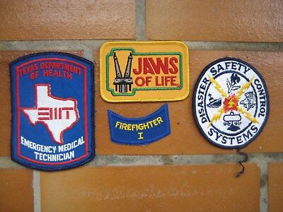 Ärmelabzeichen Patches USA Fire Department 4 Stück