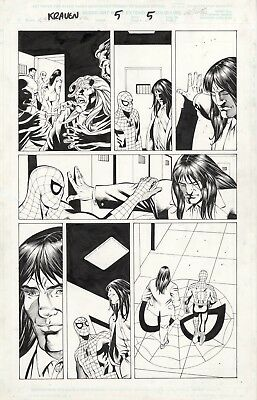 Kraven page 5, Original Comic Art, w. Spider-Man, by Al Rio, published by Marvel