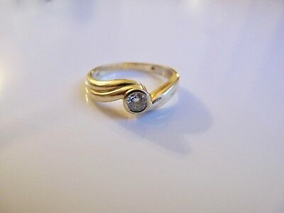 DAMEN RING mit 0,20ct. BRILLANT Vvs/H 750 / 18 KARAT GOLD GELBGOLD WERT 1780,-€