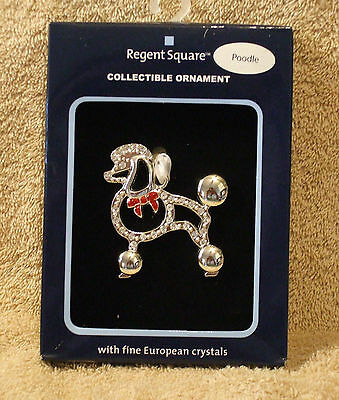 Regent Square Jeweled Poodle Christmas Ornament by Harvey Lewis - NIB