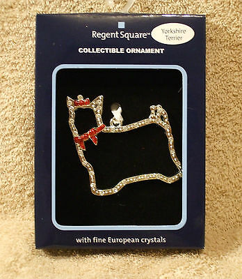Regent Square Yorkshire Terrier Christmas Ornament by Harvey Lewis - NIB