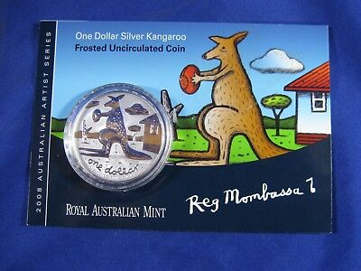 2008 Royal Australian Mint .999 Silver Kangaroo Coin, 1 oz, Frosted Uncirculated