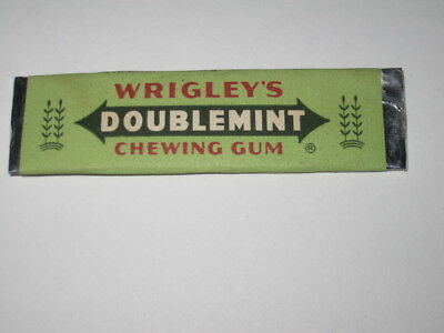 Vintage Wrigley's Doublemint chewing gum stick - unused in wrapper