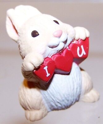 1994 NEW Hallmark Valentine Merry Miniature BUNNY RABBIT Mint Never Used QSM8016