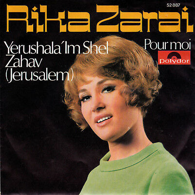 "7"" Single RIKA ZARAI: ""Jerusalem"" Unverkäufl. Musterplatte"