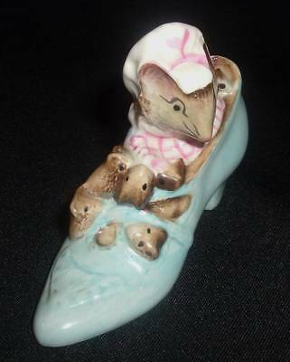 1959 Porcelain  Beswick Beatrix Potter Old Woman Who Lived In Shoe~Mint!