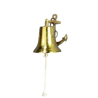 """NEW 6"""" Navy Bell with Anchor Bracket: Nautical Home Decor FREE SHIPPING"""