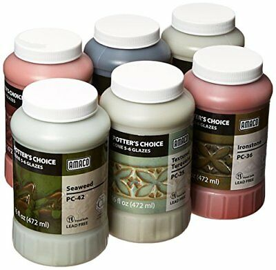 NEW Amaco 39219X Potters Choice Glazes 1 pint Capacity Assorted Colors