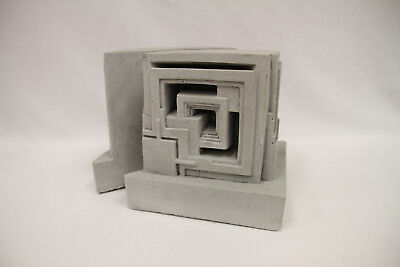 FRANK LLOYD WRIGHT MID CENTURY MODERN concrete bookends (Retired)