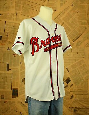 Russel Athletic Jersey L 44 Atlanta Braves MLB Authentic Baseball Trikot USA