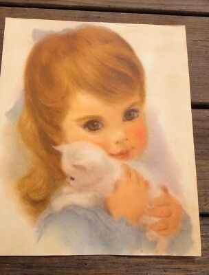 Northern's Famous American Beauty Portraits girl with kitten