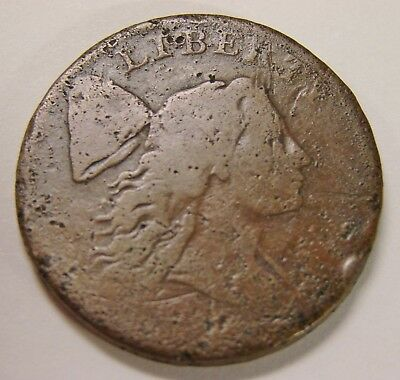 No Date (1793-1796) Liberty Cap Large Cent - Low Grade Damaged / Uniface - 12.5g
