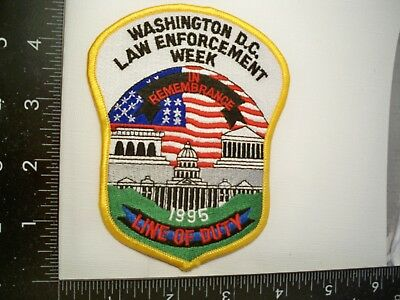 Vintage Federal Washington, DC Police Week 1996 Patch Capitol Law Enforcement