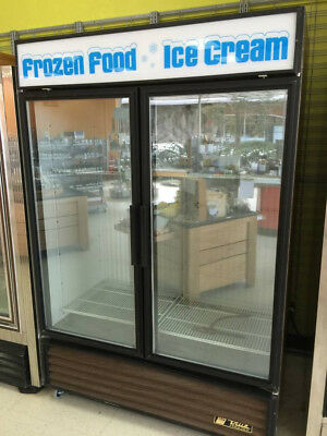 Used True GDM49F 2 Door Freezer Merchandiser, Excellent Condition, For Repair