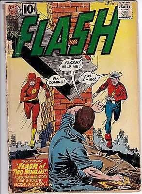 Flash #123 1st Earth 2/Silver Age App Golden Age Flash FR-GD
