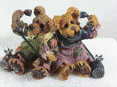 Boyds Bear Resin Alexandra and Belle Telephone Tied # 227720