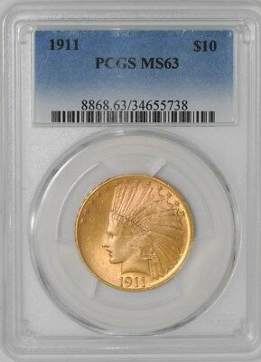 1911 $10 Gold Indian MS63 PCGS