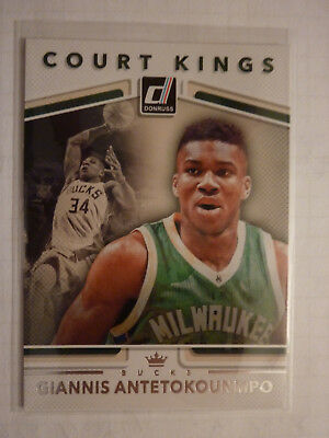 2017-18 Panini Donruss Giannis Antetokounmpo Court Kings Insert, Bucks.