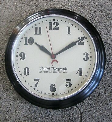 Repro Hammond Postal Telegraph Synchronous Electric Time Clock Works Great 20""