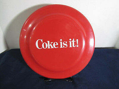 "Vintage Coke is it! Humphrey Flyer 9 1/2"" Red w/WhiteGraphics Frisbee #16 USA"