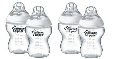 4 Pk Tommee Tippee Closer to Nature Baby Bottle, 9 fl oz Packaging may be damage