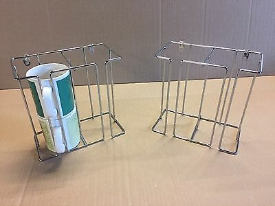 New Chrome Double Cup Or Mug Holder For Caravan Or Motorhome