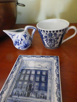 Wonderful collection /5 blue & white DELFT pieces to add to your collection.
