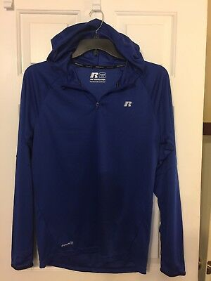 lot Of 2 Men's Russell Dri Power 360 Light Weight Pull Over With Hood Small