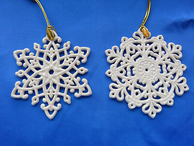 Lenox 2017 and 2016 Snowflake Fantasies Snowflake Ornaments NEW in Boxes