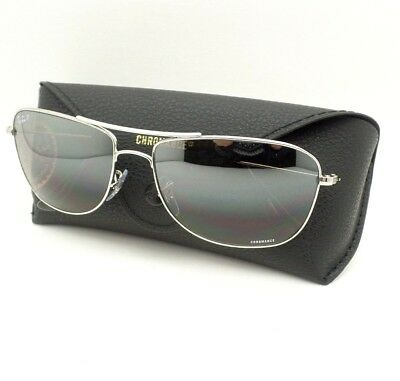 dbb010bce1 Ray Ban 3543 003 5J Silver Mirror Polarized 59mm Sunglasses New Authentic