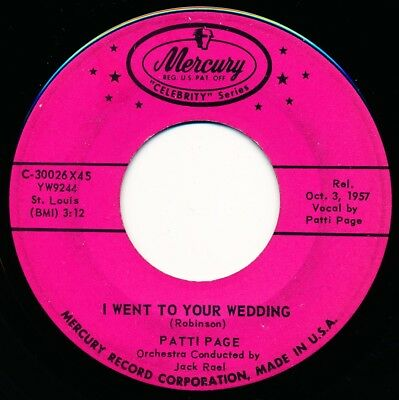 PATTI PAGE - MOCKIN' BIRD HILL / I WENT TO YOUR WEDDING - 45 Record VG