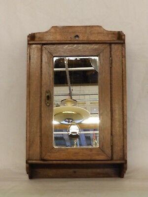 Antique Wood Surface Mount Medicine Cabinet Vintage Cupboard Cottage Old 130-18P