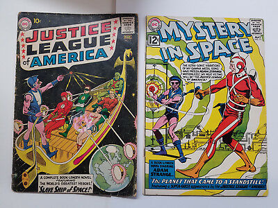 Justice League Of America #3 1961 Fr/gd 1.5 + Mystery In Space #75 5.0 Opg $135
