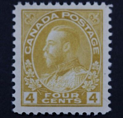 Canadian Stamp, Scott #110 XF MNH 4 Cent Jumbo Margins 1911-1925 Admiral Issue