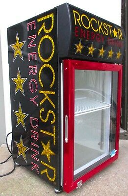 ROCKSTAR ENERGY DRINK Refrigerator CTM-32W Crystal Cooler Commercial Beer