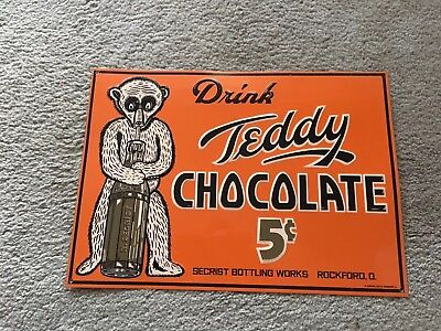 soda advertising signs teddy drink chocolate sign