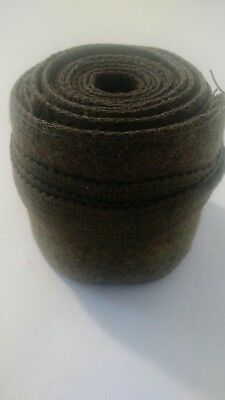 Vintage Antique WWI WWII Olive Green Drab Wool Leg Wrap/ Puttees~US Army