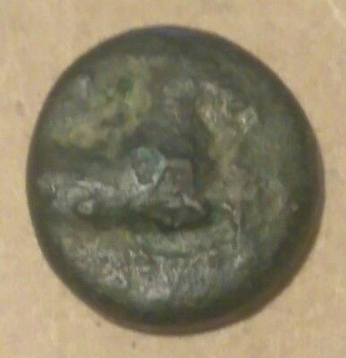 Kyme in Aeolis 350BC Horse & Vase Genuine Authentic Ancient Greek Bronze Coin