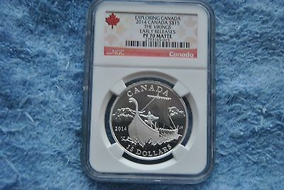 2014, Canada, $15, Exploring Canada, The Vikings, NGC, PF70, Early Releases